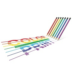 Color print pencil vector