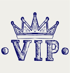 Vip crown symbol vector