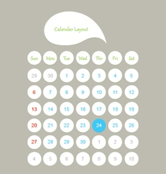 Calendar layout vector