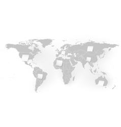 World map with white note papers background vector