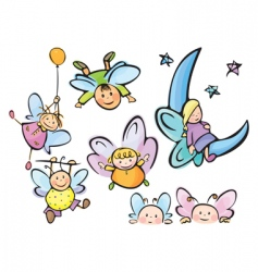 Cute angels for your design vector