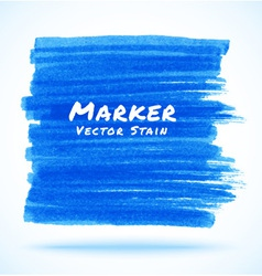 Blue marker stain vector