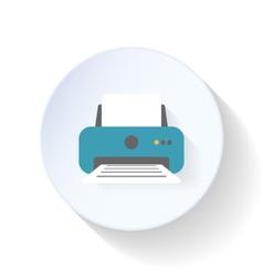 Office printer flat icon vector