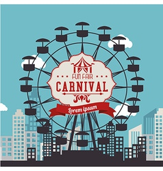 Carnival design over urbanscape background vector