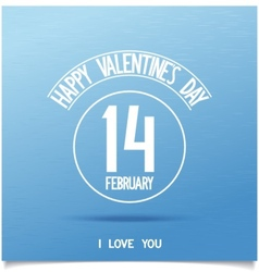 Beautiful happy valentines day sign vector