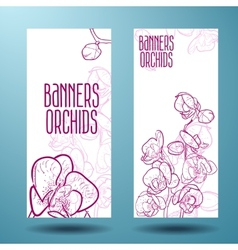 Orchids on the banner for design vector