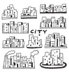 City doodles vector