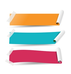 Paper tag banner 003 vector
