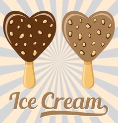 Lolly ice cream on stick vector
