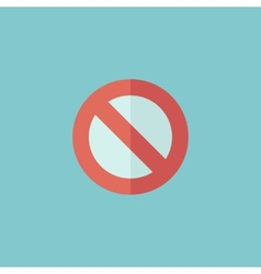 Stop flat icon vector