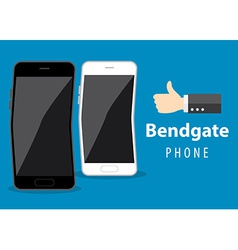Mobile phone bend vector