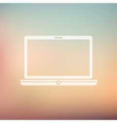 Modern laptop in flat style icon vector