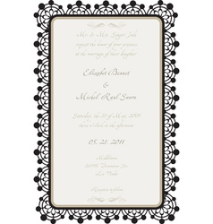 Wedding card with lace details vector