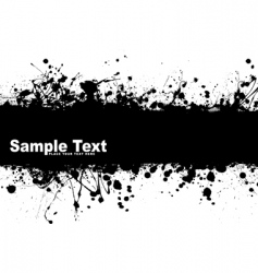 Grunge banner ink vector