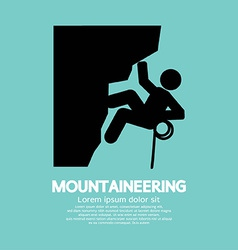 Mountaineering graphic symbol vector