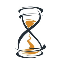 Sketch hourglass timer vector