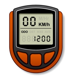 Bicycle speedometer computer vector