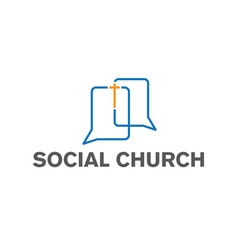 Social church design template vector