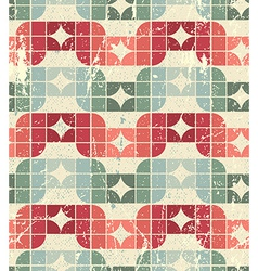 Worn textile geometric seamless pattern decorative vector