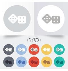 Dices sign icon casino game symbol vector