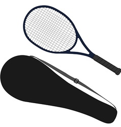 Tennis racket racket cover vector