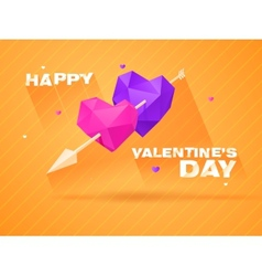 Romantic background for valentines day vector