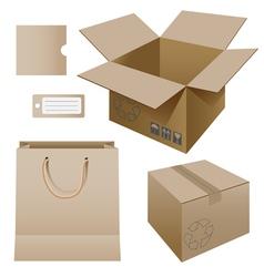 Cardboard products vector