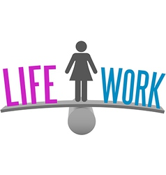 Woman balance life work decision choice vector