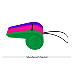 A whistle of the kuban peoples republic vector