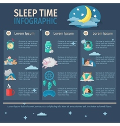 Sleep time infographics vector