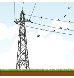 Transmission tower vector