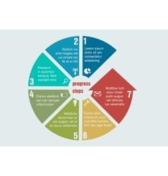 Circular progress steps vector