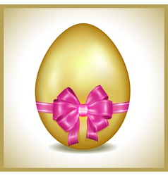 Golden easter egg isolated vector