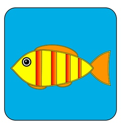 Fish button vector