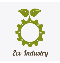 Eco industry design vector