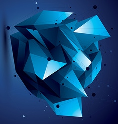 Abstract 3d structure polygonal network object vector