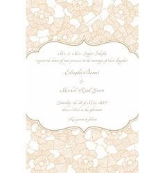 Wedding card in retro design vector