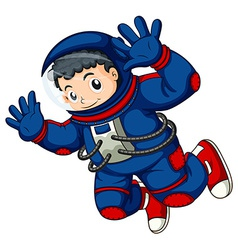 An astronaut in the air vector