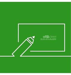 Pencil with a board vector