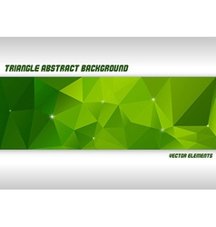Green triangles vector