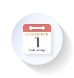 Tear-off calendar flat icon vector