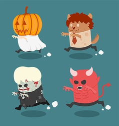 Halloween monster costume vector