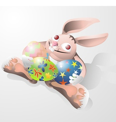 Easter rabbit funny vector