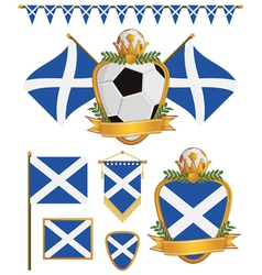 Scotland flags vector