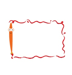 Funny brush frame vector