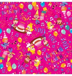 Happy birthday party pattern vector