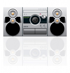 Cd and cassette player vector