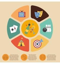 Entertainments infographics set vector