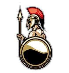 Spartan courage soldier vector