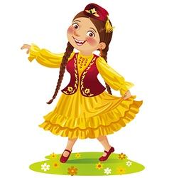 Dancing tatar vector